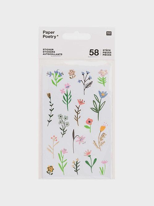 """Sticker Sheets """"Wild Flowers"""" (58 Sticker)"""