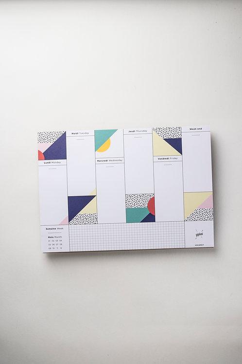 "Weekly Desk Planner ""VIVA"" (A4)"