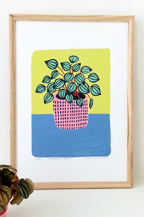 """Art Print """"Peperomia Plant"""" (in A5 und A4)"""