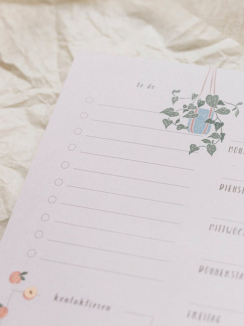 """Weekly Planner """"Lovely Home"""" (A4)"""
