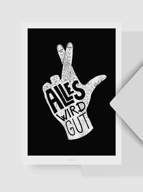 """Postkarte """"Alles wird gut"""""""