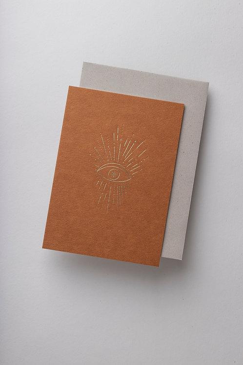 "Grußkarte ""Cosmic Vision"" (Letterpress)"