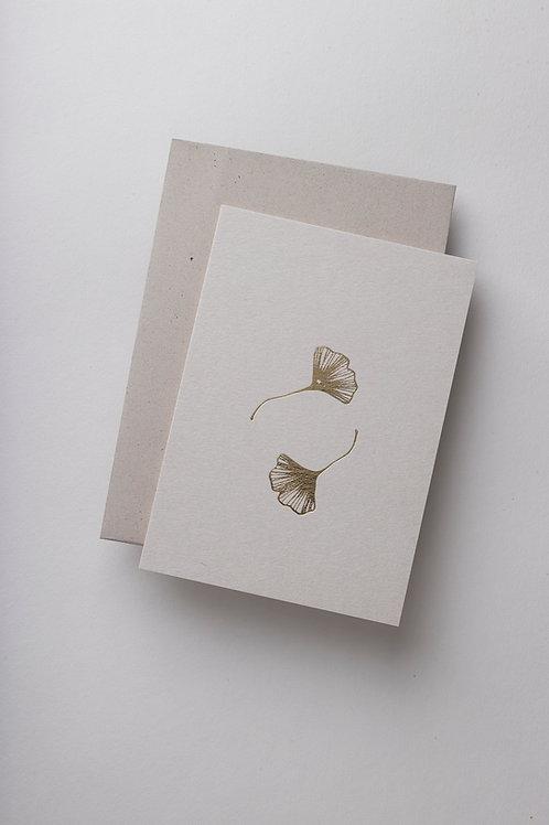 """Grußkarte """"Ginkgo"""" (Letterpress)"""