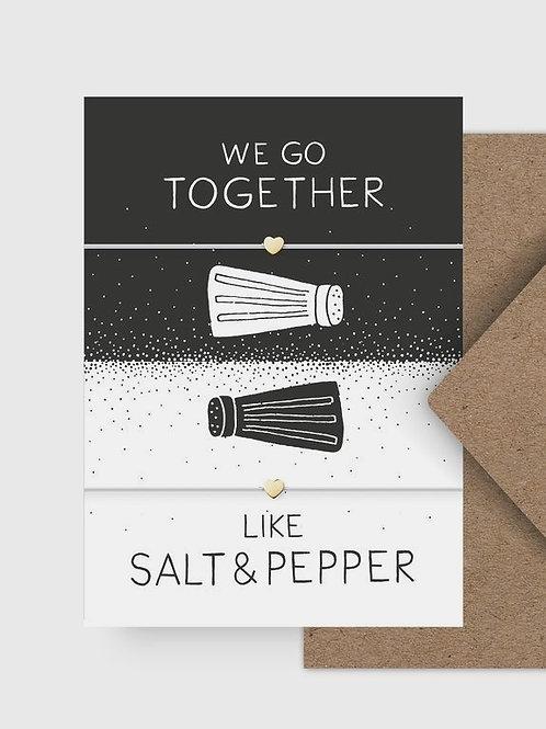 "Armband ""Salt & Pepper"" mit Postkarte"