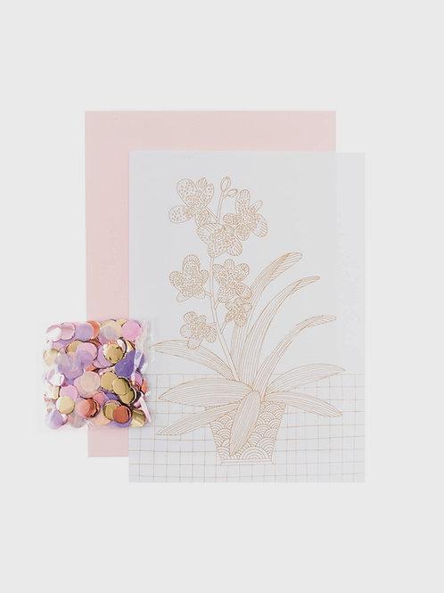 """DIY Grußkarten Set """"Orchidee"""""""