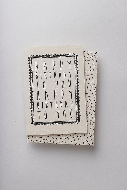 """Grußkarte """"Happy Birthday to you"""""""