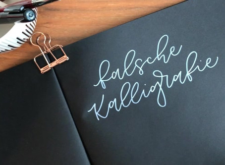 Falsche Kalligrafie