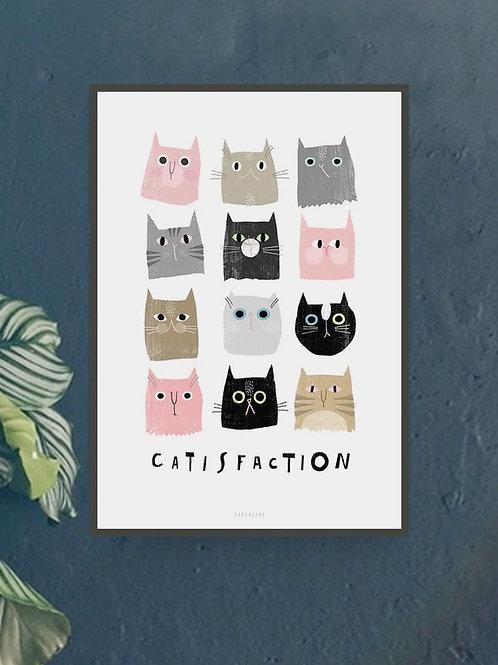 "Art Print ""Catisfaction No. 1"" (A4)"