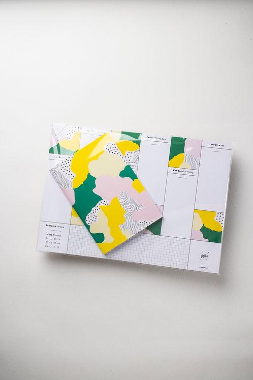 """Set """"SAKURA"""": Weekly Desk Planner + Notizbüchlein"""