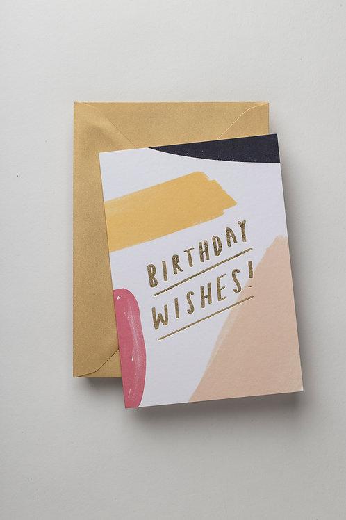 "Grußkarte ""Birthday Wishes"" (brushwork)"