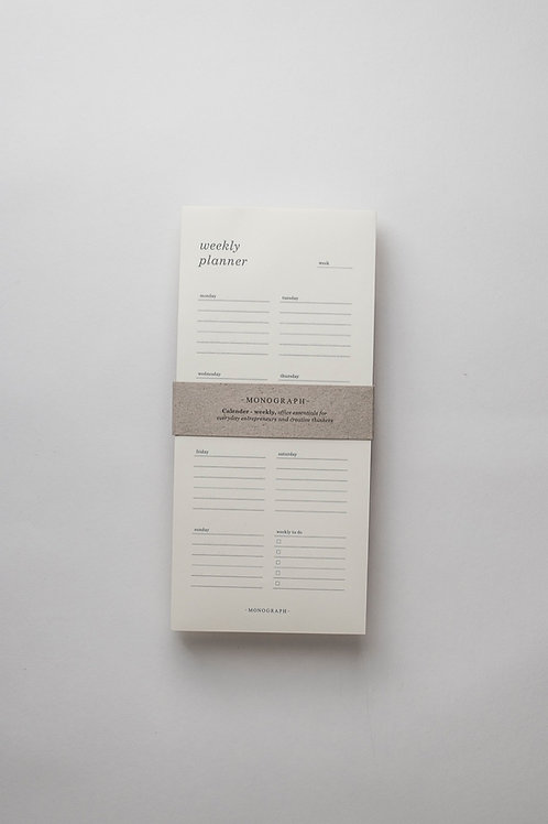 Monograph Weekly Planner