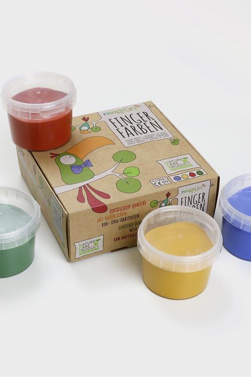 "Fingerfarben 4er Set ""Aki"" (blau, gelb, rot, grün)"