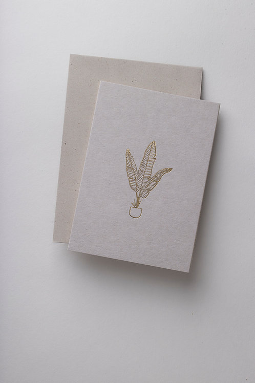 "Grußkarte ""Plant Lady"" (Letterpress)"