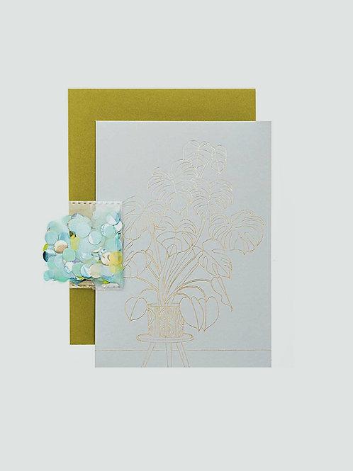 "DIY Grußkarten Set ""Monstera"""