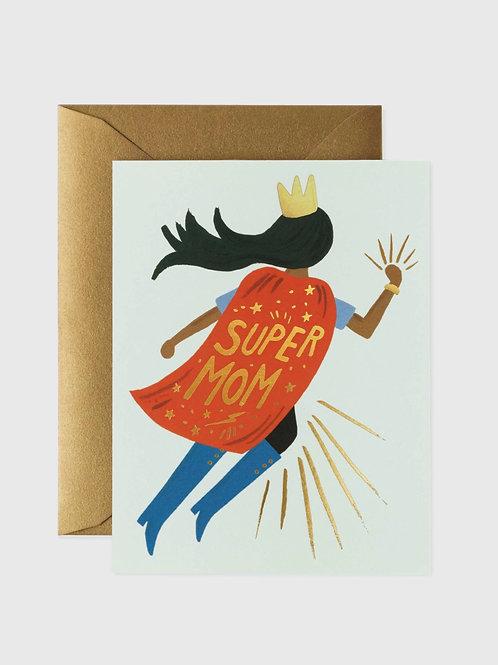 "Grußkarte ""Super Mom"""