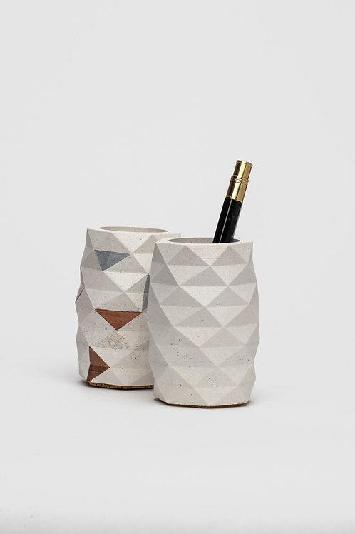 "Stiftehalter Set aus Beton ""Geometrik"" (handgefertigt)"