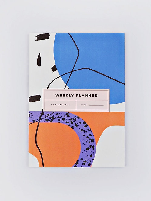 """Weekly Planner Book """"New York No. 1"""" (A5)"""