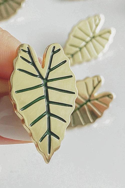 """Enamel Pin """"Alocasia Leaf"""""""