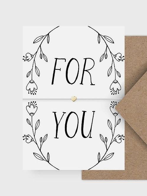"""Armband """"For You"""" mit Postkarte"""