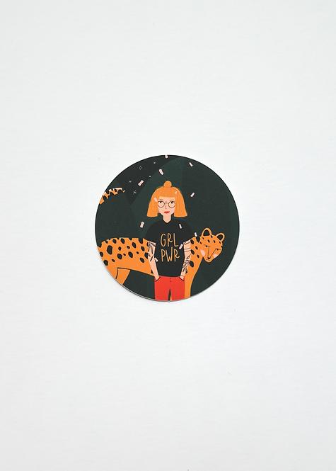 "Sticker ""GRL PWR"" Leopard Edition"
