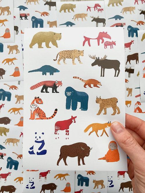 """Sticker Sheet """"Forest Animals"""""""