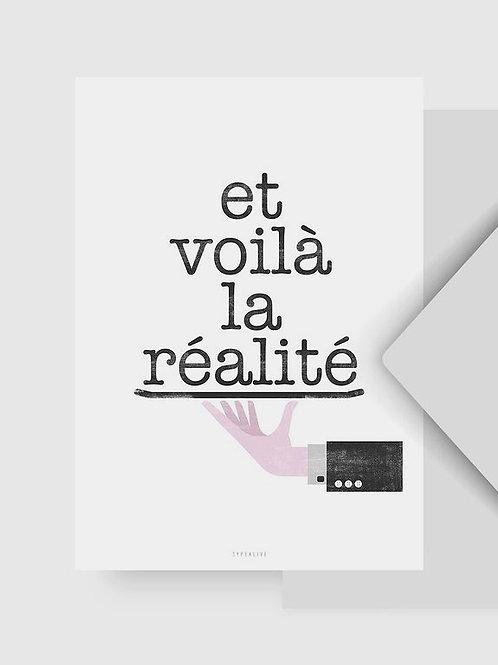 "Postkarte ""Réalité No. 1"""