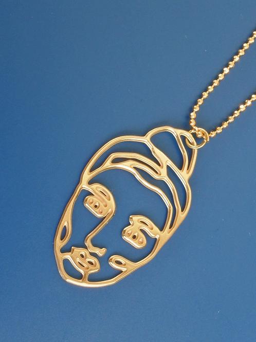 """Halskette """"Golden Women"""" aus Öko-Messing"""