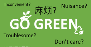 How to go green- like your life depends on it.