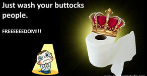 Just wash your buttocks people.
