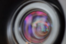Projector lens with close-up highlights.