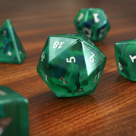 Dice Set Rendered with Cycles4D