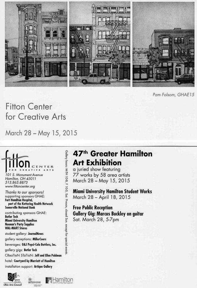 Opening at the Fitton Center Saturday Night