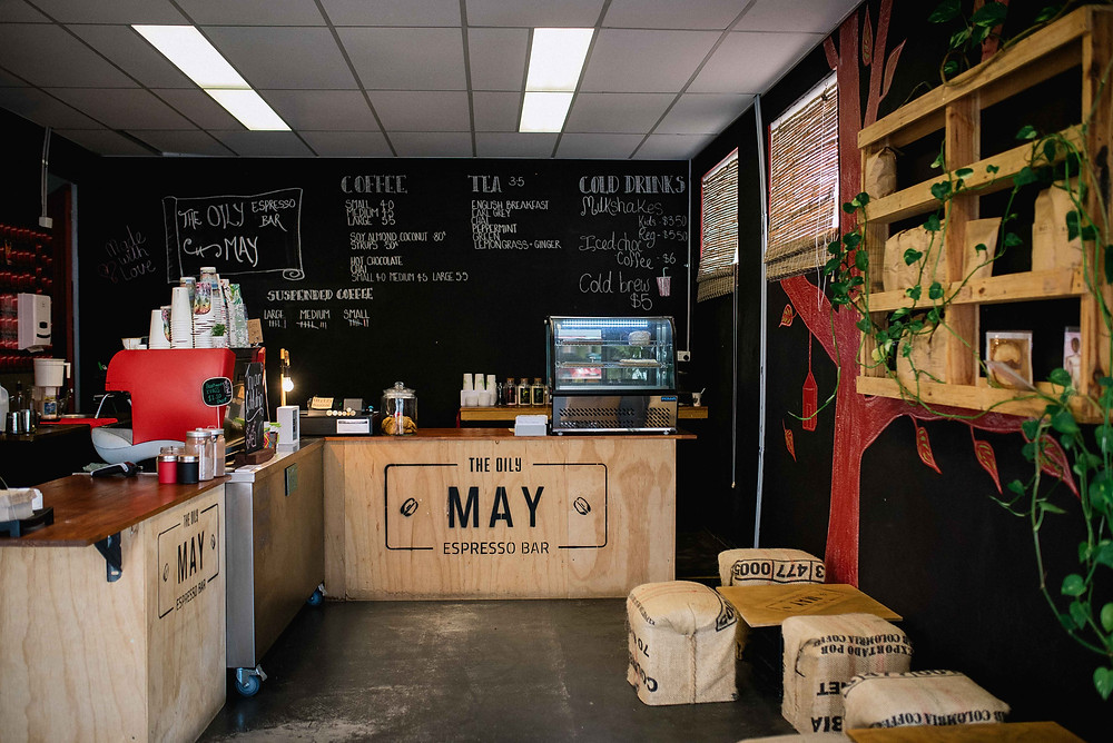 Bec Peterson Lake Macquarie Natural Light Commercial Photographer The Oily May Espresso Bar and Cafe Mayfield