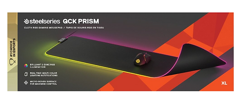 SteelSeries - QcK Prism XL Gaming Mouse Pad with RGB Lighting - Black