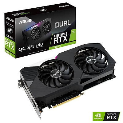 ASUS Dual NVIDIA GeForce RTX 3060 Ti OC Edition 8GB GDDR6