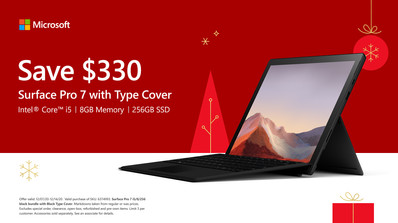 BestBuy Surface Holiday Screen Ad