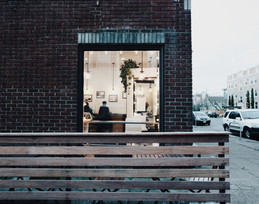 Photo Displays (in coffee shop)