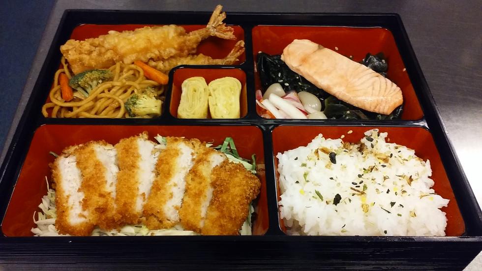 Pork Katsu & Salted Salmon Bento Box