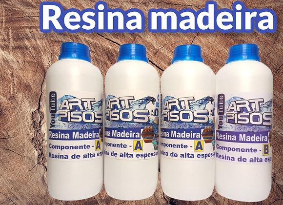 Resina Madeira alta espessura