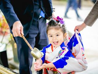 意富比神社(船橋大神宮)で七五三のロケーション撮影