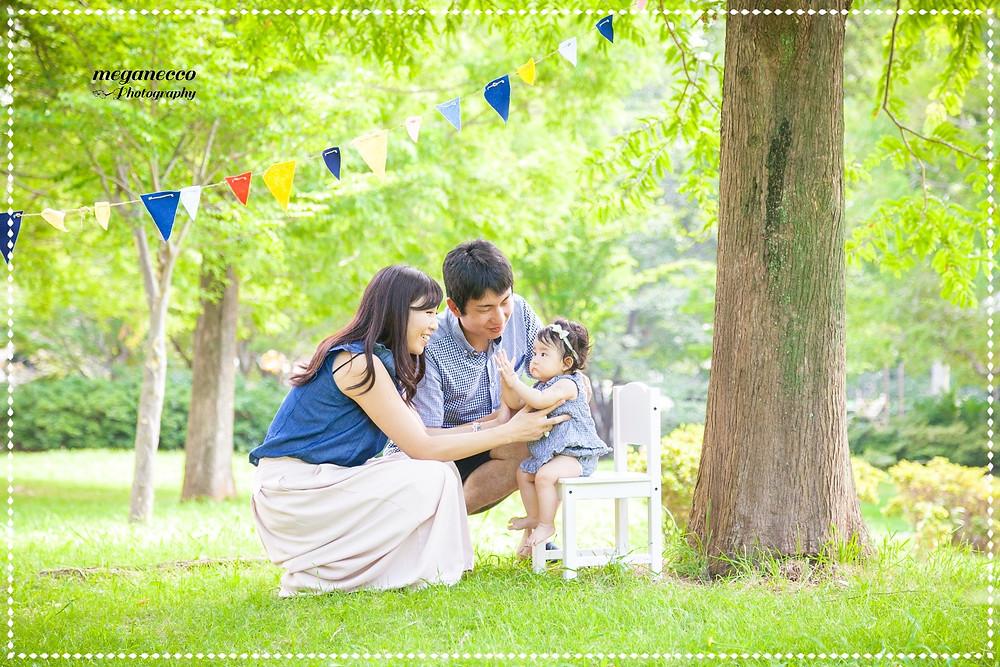 家族写真 お宮参り 七五三 出張撮影