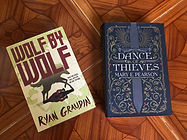 Dance of Thieves HB, Wolf by Wolf HB, 2 local romance books (for my mom)