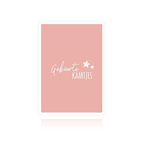 Bewaarbundel geboortekaartjes - roze