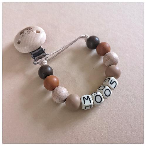 Speenkoord met naam - Moos