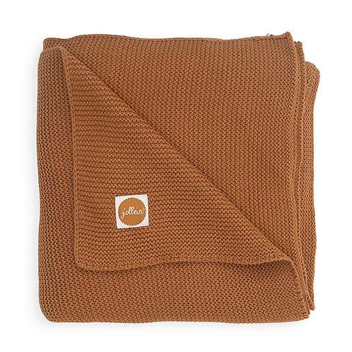 Wieg Deken Basic Knit 75x100cm - Caramel