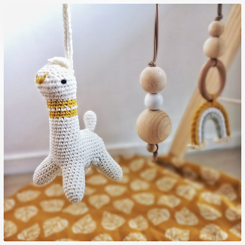 Babygym hangers - set van 3 - Okergeel/Wit