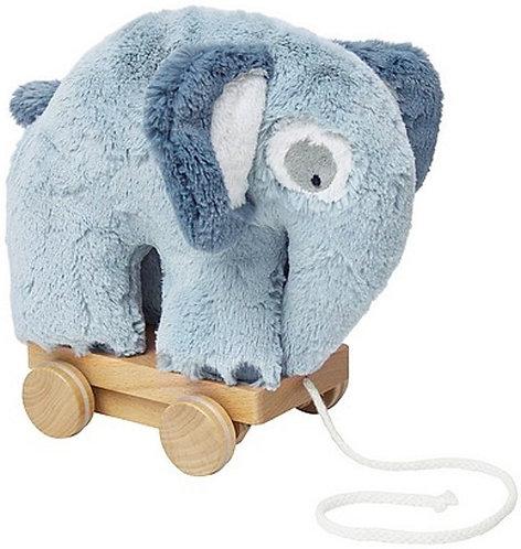 Pluche Trekdier Sebra - olifant blauw