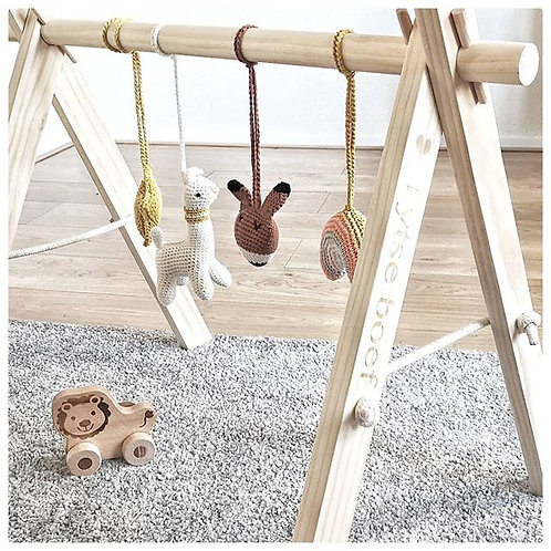 Houten verstelbare babygym frame