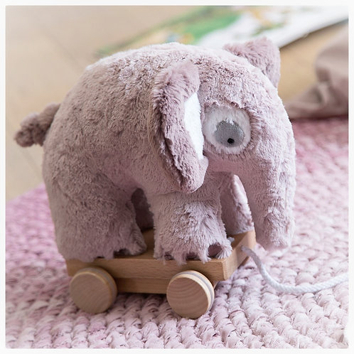 Pluche Trekdier Sebra - olifant oudroze