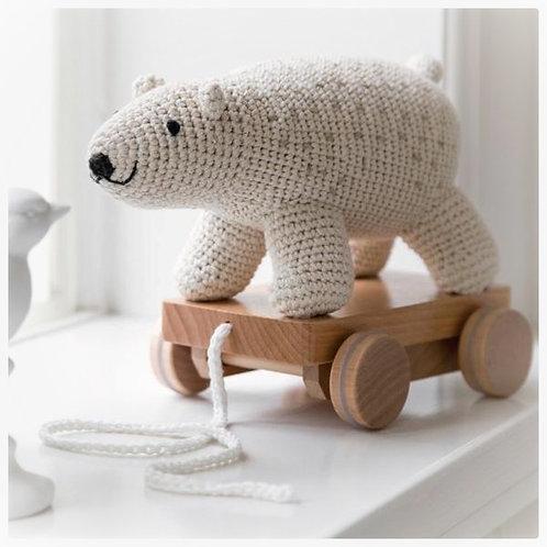 Gehaakt Trekdier Sebra - ijsbeer